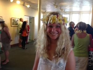 My blonde Hawaiian princess.